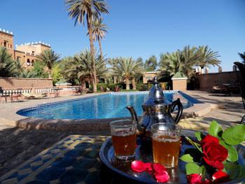 La piscine de l'hôtel des jardins de Ouarzazate
